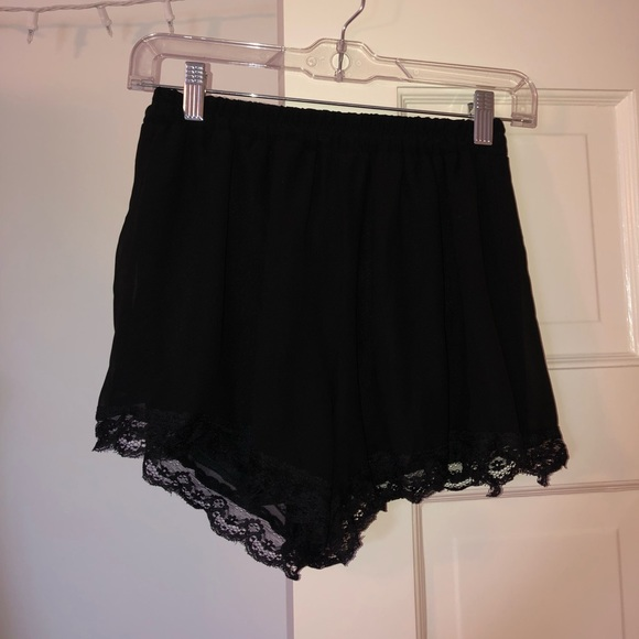 Lush Pants - Lush Brand (from nordstrom) Black Chiffon Shorts